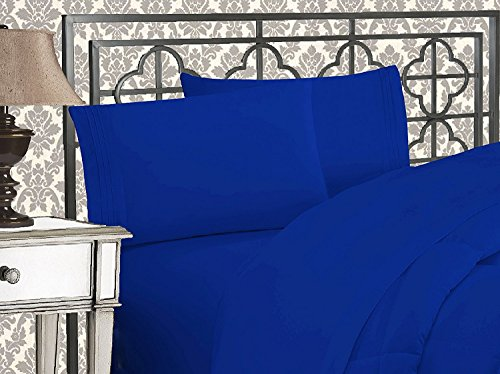 Elegant Comfort 1500 Thread Count Wrinkle & Fade Resistant Egyptian Quality Ultra Soft Luxurious 2-Piece Pillowcases, Standard Size, Royal Blue