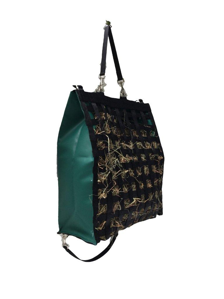 The Original NibbleNet 9'' deep w/ 2'' Slow Feed Hay Bag by Thin Air Canvas, Inc. = Green
