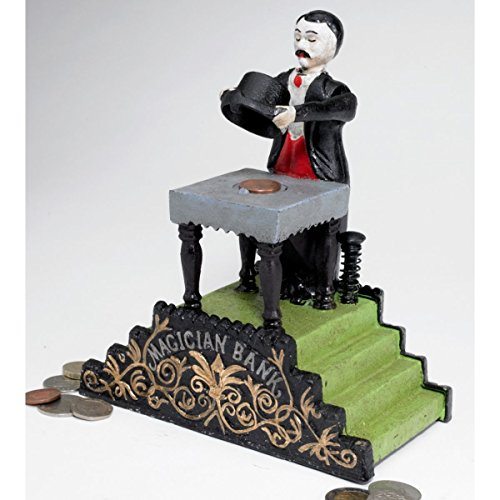 Design Toscano Maitland the Magician Authentic Foundry Iron Mechanical Bank by Design Toscano (Image #1)