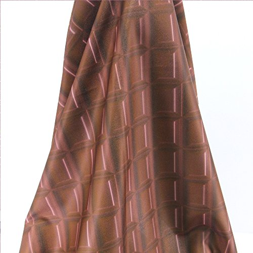 FunnyPicker 50x145Cm Patchwork Printed Milk Chocolate Knit Fabric For Tissue Kids Bedding Textile For Sewing Tilda (Dark Chocolate Queen Headboard)