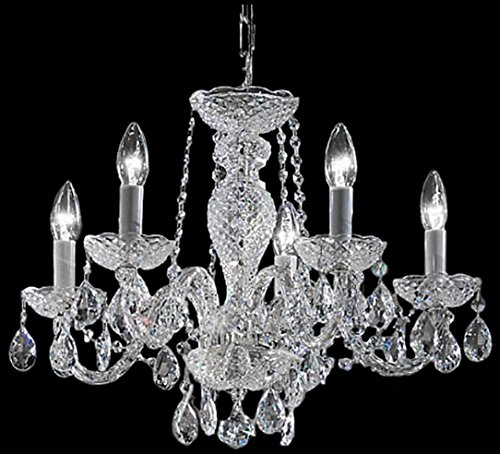 Classic Lighting 8235 CH I Monticello, Crystal All Glass, Chandelier, (All Glass Crystal Chandelier)