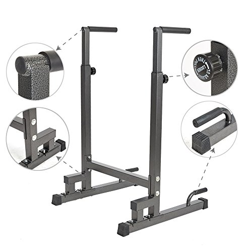 Livebest Heavy Duty Adjustable Power Tower Multi-Function Strength Training Dip Stand Workout Station Fitness Equipment for Home Gym by Livebest (Image #4)