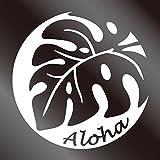nc-smile ハワイアンステッカー モンステラ Aloha ホワイト