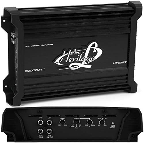 Amplificatore a 2/canali Lanzar HTG257/Htg 257/da 1300/Watt RMS 2/x 650/Watt RMS e 2000/Watt max subwoofer