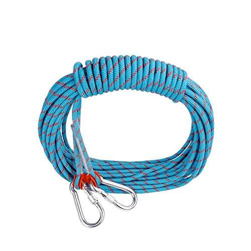 残酷比率薬を飲むアウトドアクライミングロープ、ラップリングアブセイリングロープの安全丈夫な脱出静的ロープロープ、消防、ハイキング、10-100メートルのプロフェッショナルロックセーフティロープ (色 : ブラック, サイズ : 8 mm wide 50m long)