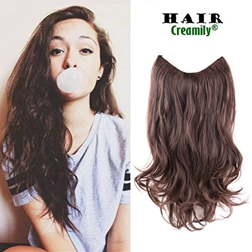 Creamily 20 Wavy Curly Synthetic Hair Extension Secret Miracle Heat Resistance Hair Wire Hairpieces No Clip for Women (2/30)