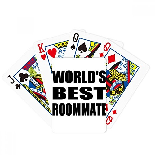 Poker Mate - World's Best Roommate Graduation season Poker Playing Card Tabletop Board Game Gift