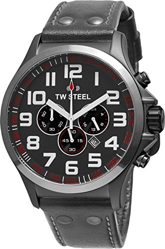 TW Steel Pilot Chronograph Grey Dual Titanium PVD Mens Watch TW423