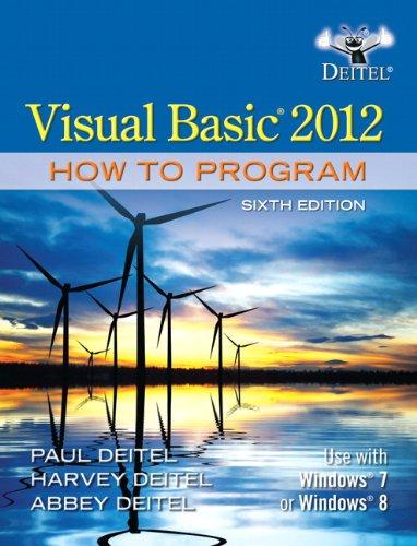 Visual Basic 2012 How to Program ISBN-13 9780133406955