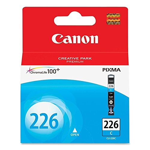 Canon CLI-226 Cyan Ink Tank Compatible to iP4820, MG5220, MG5120, MG8120, MG6120, MX882, iX6520, iP4920, MG5320, MG6220, MG8220, MX892