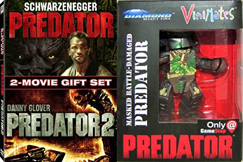 The Ultimate Predator Set Bundle: 2-Movie Gift Set Predator & Predator 2 DVD Movie & EXCLUSIVE Vinimates Masked Battle-Damaged Predator Vinyl Figure (GAMES STOP EXCLUSIVE) Bundle (Exclusive Battle Pack)