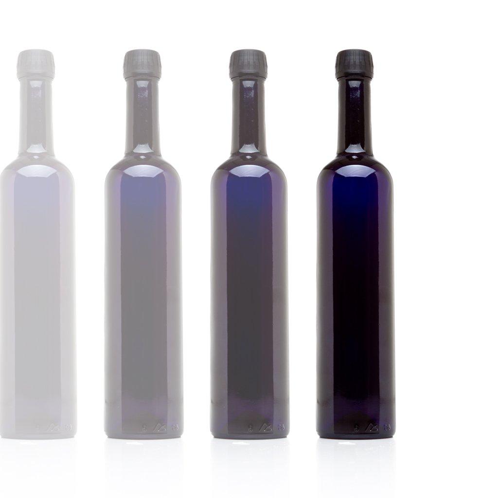Infinity Jars 500 Ml (17 fl oz) Black Ultraviolet Long Neck Glass Oil Bottle 10-Pack