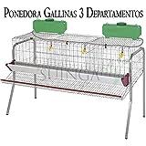 Bateria GALLINAS PONEDORAS 3 departamentos. Capacidad 15 gallinas. Medidas 155 x 70 x 95 cm. Incluye:…