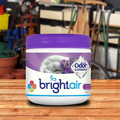 Bright Air Solid Air Freshener and Odor Eliminator, Lavender and Linen Scent, 14 Ounces, 6 Pack by Bright Air (Image #1)