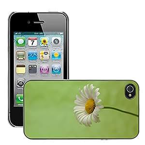 Print Motif Coque de protection Case Cover // M00156391 Margarita verde de fondo macro // Apple iPhone 4 4S 4G