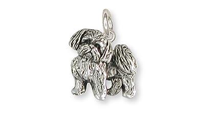 dfaa2521a ... Shih Tzu Jewelry Sterling Silver Shih Tzu Charm Handmade Dog Jewelry  SZ21-C ...