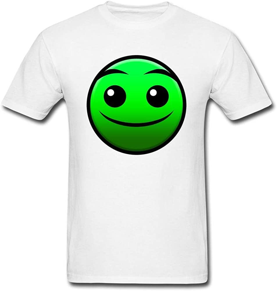 SLJD Men's Normal Geometry Dash Icon Emoji Design T Shirt