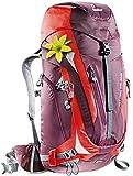 Deuter Damen Rucksack ACT Trail PRO SL, aubergine-fire, 66 x 30 x 25 cm, 38 Liter, 344121555220