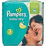 Pampers Baby Dry  - Pañales para bebés, Talla   (4-9kg), 198 unidades