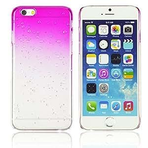 OnlineBestDigital - Transparent Gradient Water Drop Design Hard Back Case for Apple iPhone 6 Plus (5.5 inch) Smartphone - Hot Pink with 3 Screen Protectors