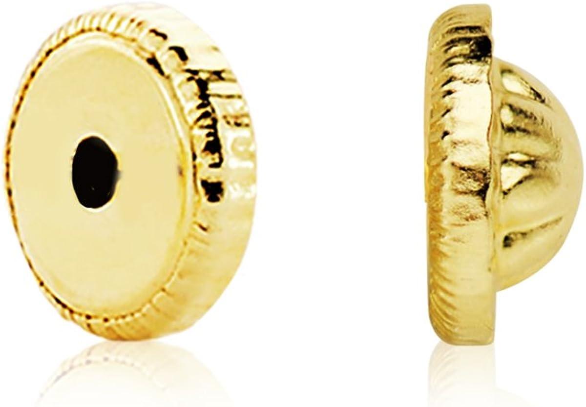 Par fornitura rosca pendientes bebé oro amarillo 18 ktes 4 mm cierre tuerca
