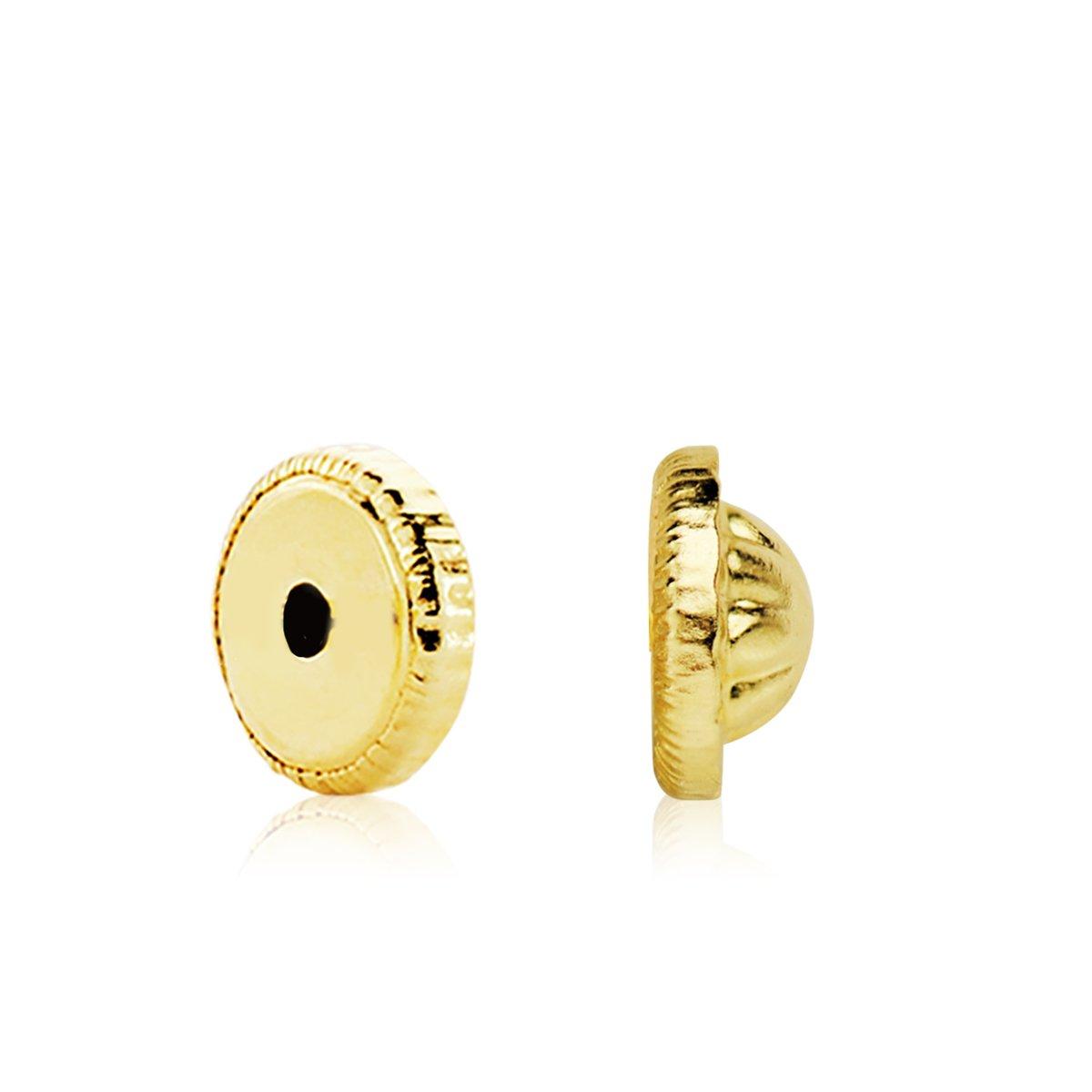 Iyé Biyé Jewels Boucles d'oreilles pour bébé or jaune 18ktes 4mm avec fermoir écrou Iyé Biyé Jewels 433