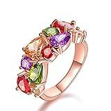 Mrsrui Luxury Large Colorful Crystal Wedding Engagement Cocktail Ring Fashion Jewelry Gift (6)