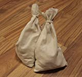 Canvas Money Bag Blank Bank Gift Deposit Transit Coin Sack Bags 12x19 Tie String