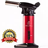 Kitchen Torch for Creme Brulee-Culinary Torch-Butane Torch-Blow Torch-Cooking Torch-Butane Food Torch with Fuel Gauge-Chefs Torch-Kitchen Blowtorch Lighter Dabs Torch by Stella's Kitchen