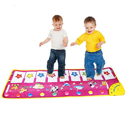Zamango Kids Piano Music Mat Baby Musical Toys,Colorful Dance Mat Musical Instruments for Toddler 8 Piano Keyboard and 8 Song Animal Sound Educational Toy Gift