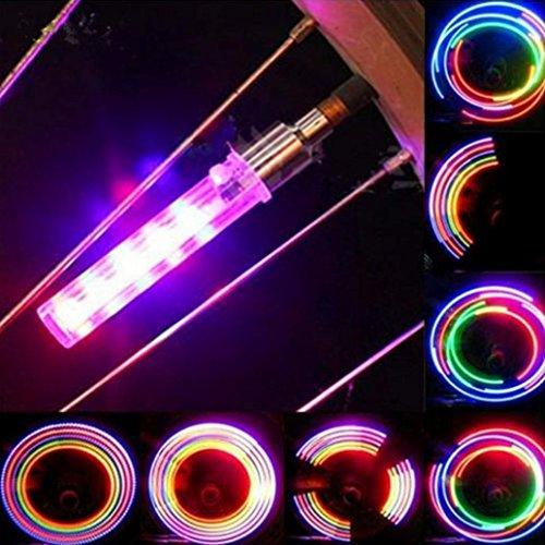 Wheel Light Tyre - Ecosin Fashion 2PCS 5 LED Flash Light Bicycle Motorcycle Car Bike Tyre Tire Wheel Valve Lamp