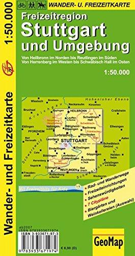 Freizeitregion Stuttgart und Umgebung 1 : 50 000. Wander- und Freizeitkarte (Geo Map)