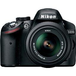 Nikon D3200 24.2 MP CMOS Digital SLR with 18-55mm f/3.5-5.6 AF-S DX NIKKOR Zoom Lens (Certified Refurbished)