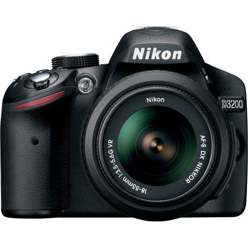 Nikon D3200 24.2 MP CMOS Digital SLR with 18-55mm f/3.5-5.6 AF-S DX NIKKOR Zoom Lens (Renewed)