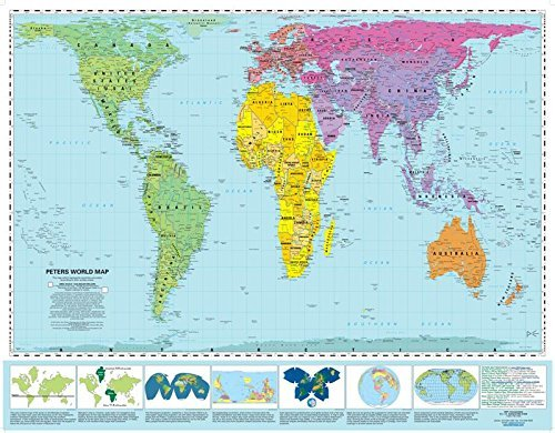 Peters Equal Area World Map 39.5