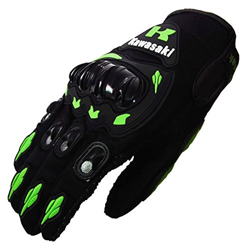 Green Motorcycle Gloves - 3