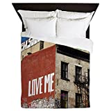 CafePress - Graffiti Love - Queen Duvet Cover, Printed Comforter Cover, Unique Bedding, Microfiber