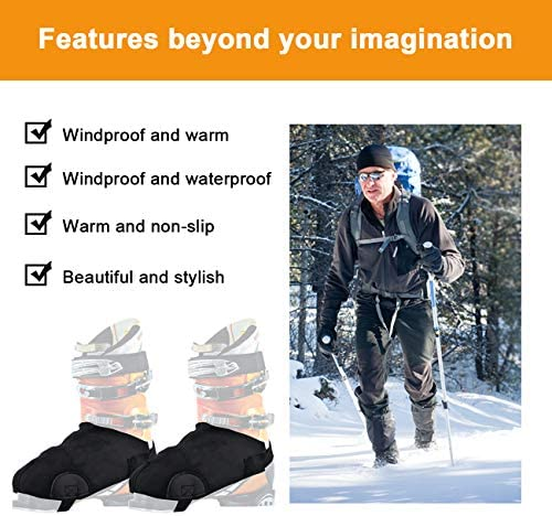 Ski Boot Covers Ski Shoe Protection, 2 Snowproof Boot Gloves, General Ski Boot Cover for Skiers' Home Skiing, Toes Warm Hands and Boot Covers, Ski Accessories