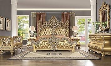 Amazon Com Inland Empire Furniture King Size Tenaya Formal Bedroom Set Furniture Decor