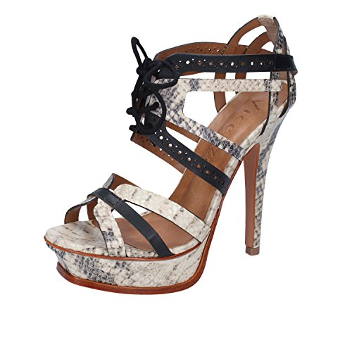 Sandals VICENZA Leather Beige 5 35 Woman Black US EU dRr8Rq