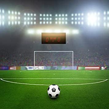 Amazon Com Yeele 4x4ft Soccer Backdrop Green Football Field Football Match Sports Photography Background Picture For Party Banner Boy Man Kids Portraits Photo Booth Shooting Vinyl Wallpaper Studio Props Camera