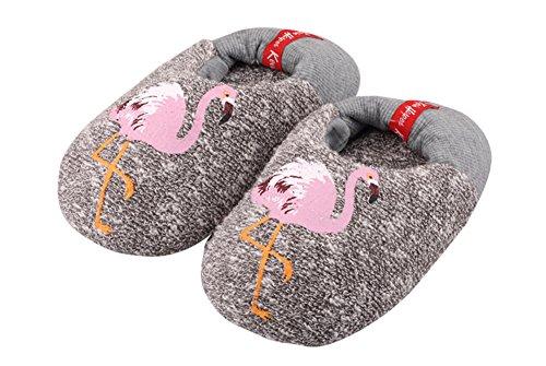 Agowoo Womens Bambini Ragazzi Ragazze Famiglia Fenicottero Ananas Pantofole Casa Kids_grey