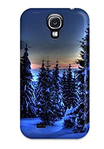 Galaxy S4 UaffSAq12770urvqX Pine Trees In Winter Tpu Silicone Gel Case Cover. Fits Galaxy S4