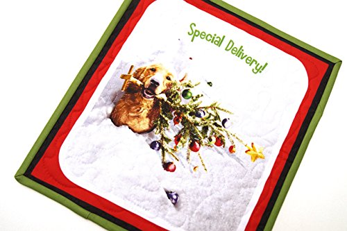 Christmas Dog and Tree Mini Quilt or Wall Hanging Christmas Patchwork Wall Hangings
