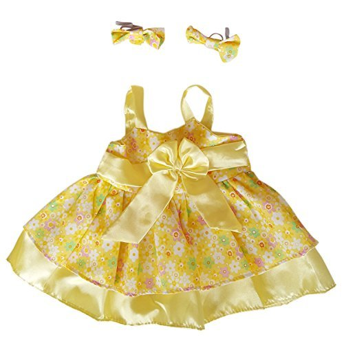 (Summer Dress Outfit Teddy Bear Clothes Outfit Fits Most 14