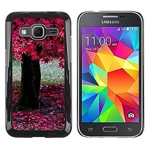 //MECELL CITY PRESENT//SmartPhone Carcasa rígida Carcasa de plástico PC Carcasa fresco imagen para Samsung Galaxy Core Prime///Naturaleza Hermosa Forrest Verde 195///