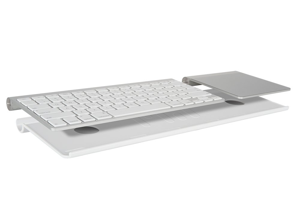 MeshWe BLUAW221  Bluefin | Connects Magic Trackpad to Apple Wireless Keyboard (white)Apple Keyboard and Trackpad NOT Included