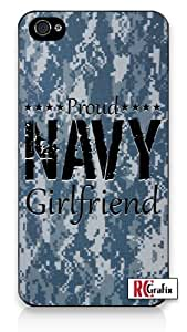 Premium Direct Print Camouflage Proud Marine Girlfriend Digital Camo Blue iphone 6 Quality Hard Snap On Case for iphone 6/Apple iphone 6 - AT&T Sprint Verizon - White Case PLUS Bonus RCGRafix The Best Iphone Business Productivity Apps Review Guide