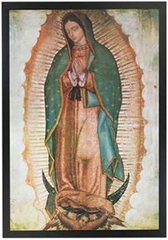 Amazon.com: Virgen Maria – Virgen María profesionalmente – Póster enmarcado  arte impresión 24 x 36 sobre un marco negro fabricado en EE. UU.: Home &  Kitchen