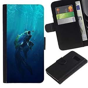 All Phone Most Case / Oferta Especial Cáscara Funda de cuero Monedero Cubierta de proteccion Caso / Wallet Case for Sony Xperia Z3 Compact // Big Mouth Fish